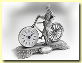 pewter bike clock