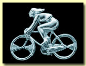 lady on a racing bike hall marked silver brooch and pendantcyclist