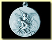 goddess nike silver cycling medal