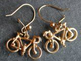 Racing Bike Earrings in Silver
