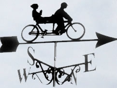 Tandem bicycle themed weathervane