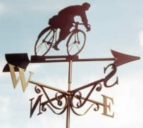Touring Man cycle themed weather vane